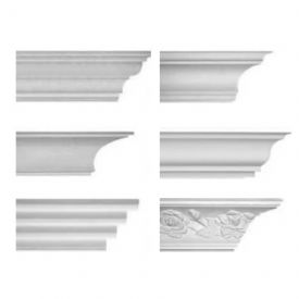 Small Plaster Coving Sample Pack - 6 Small Plaster Coving Samples